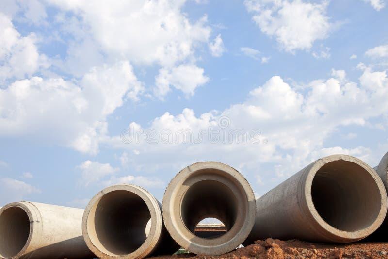 De Pijpen van de drainage stock fotografie