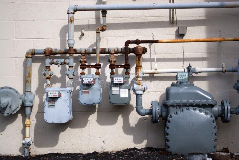 De Pijpen van het Aardgas stock fotografie