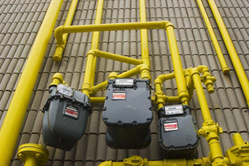 De pijpen van het gas stock foto's