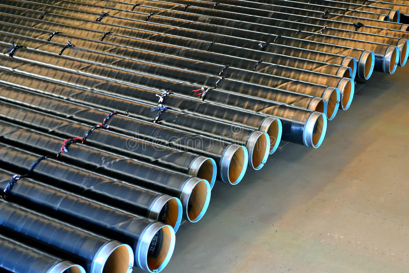 De Pijpen van het staal royalty-vrije stock afbeeldingen