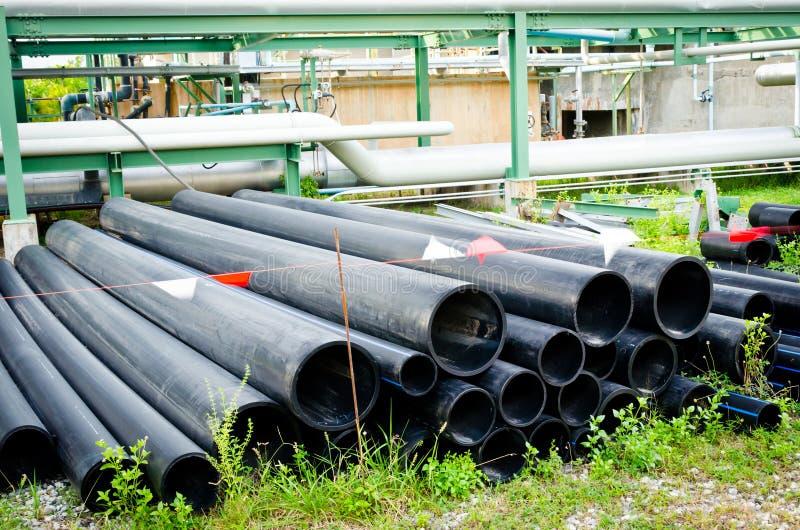 De pijpen van pvc voor drainagesysteem stock foto