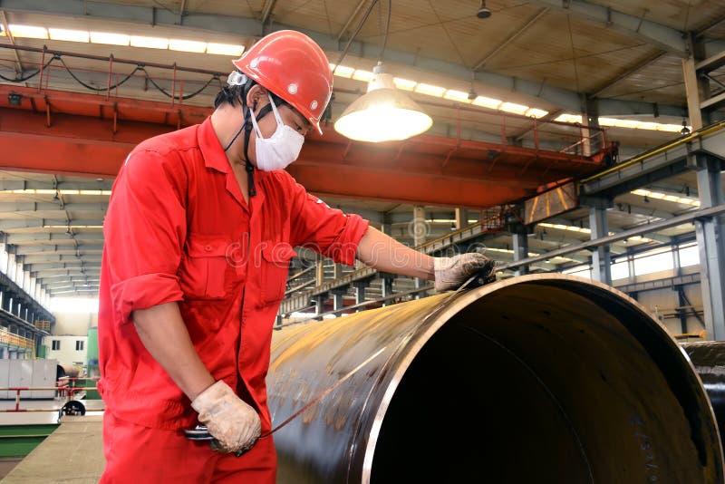 De pijpinspecteur van het staal stock fotografie