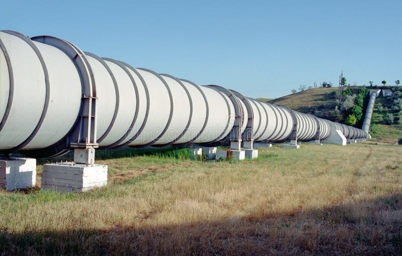 De pijpleiding van de irrigatie stock fotografie