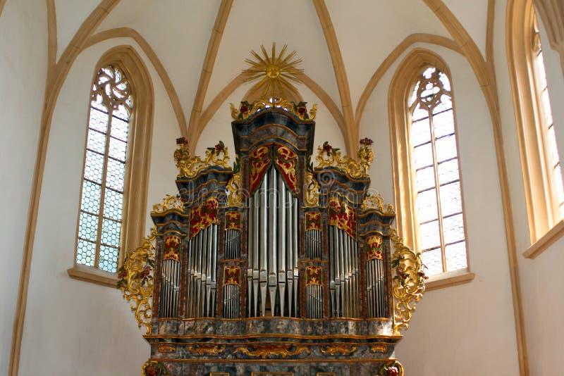 De pijporgaan van de kerk royalty-vrije stock foto