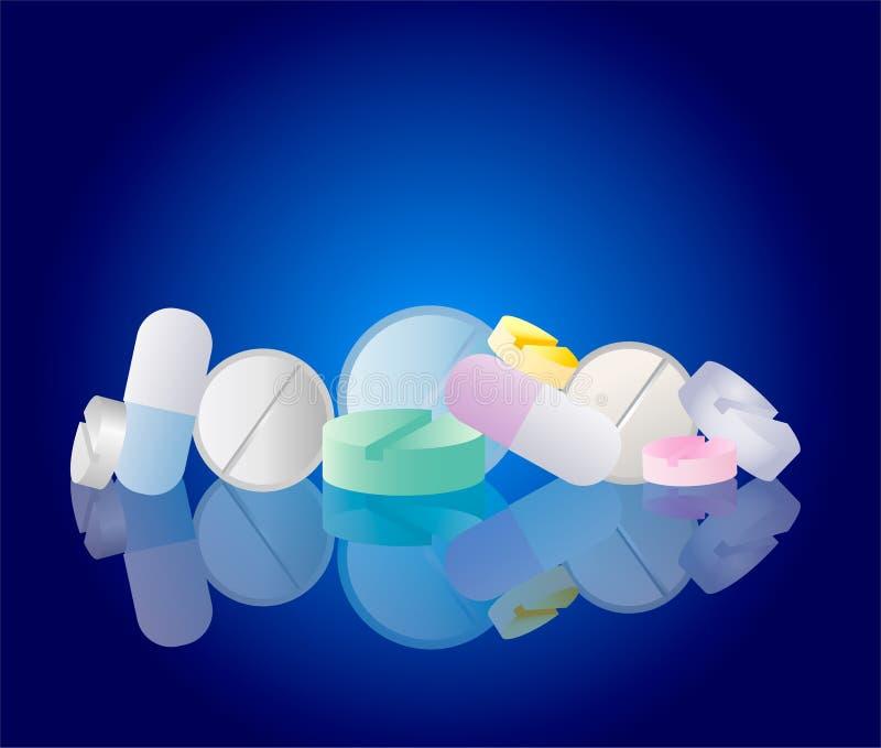 De pillen van de apotheek vector illustratie