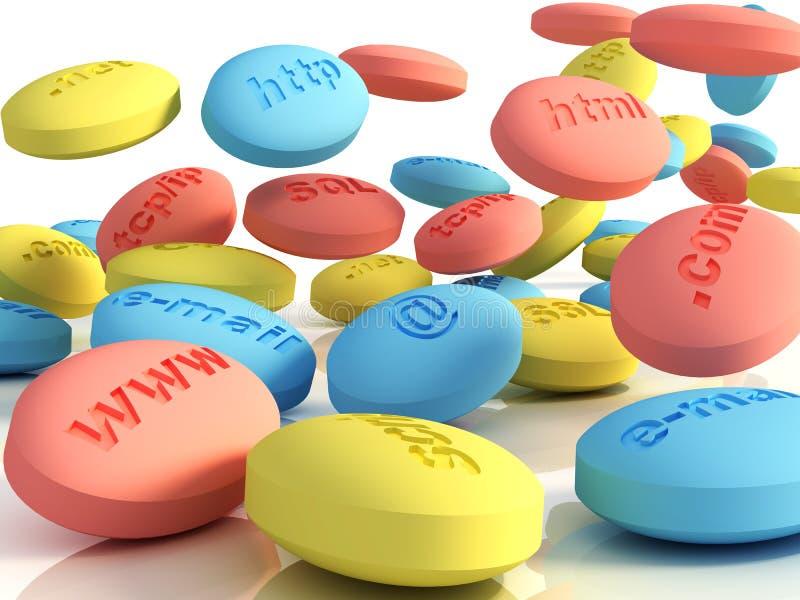 De pillen van de computer vector illustratie