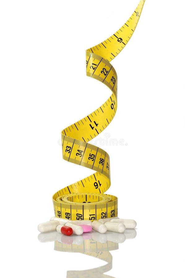 De pillen van het dieet stock foto's