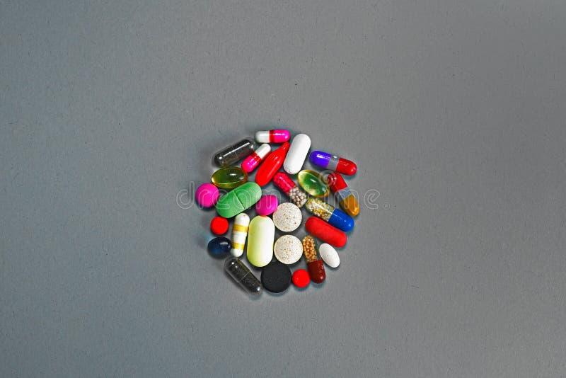 De Pillen van het voorschrift en Farmaceutisch Medicijn stock foto's