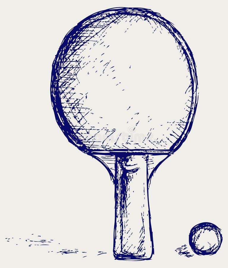 De pingpong van de schets stock illustratie