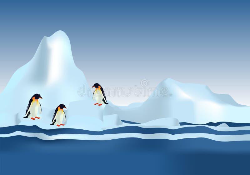 De Pinguïnen van de keizer, cdr vector vector illustratie