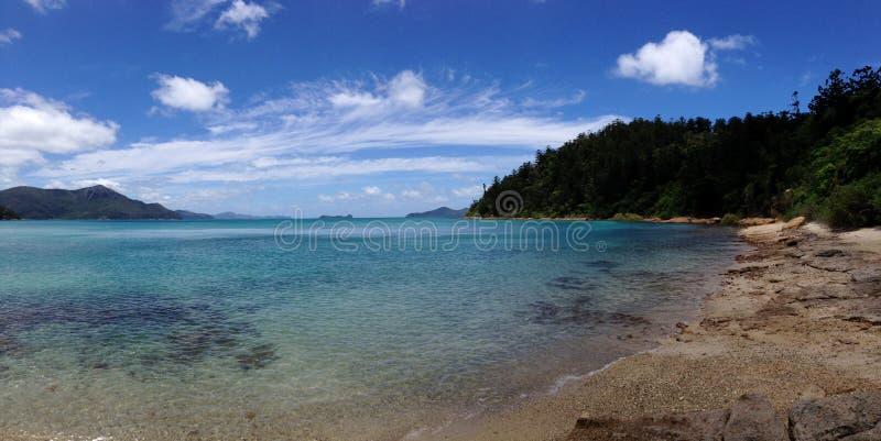 De Pinkstereneiland van de tongbaai stock afbeelding