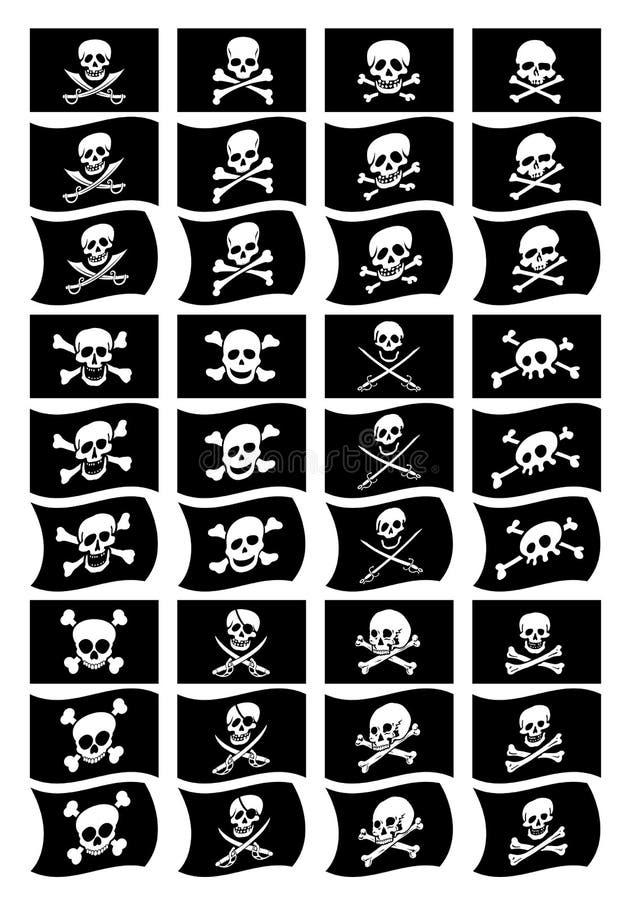De piraat markeert inzameling royalty-vrije illustratie