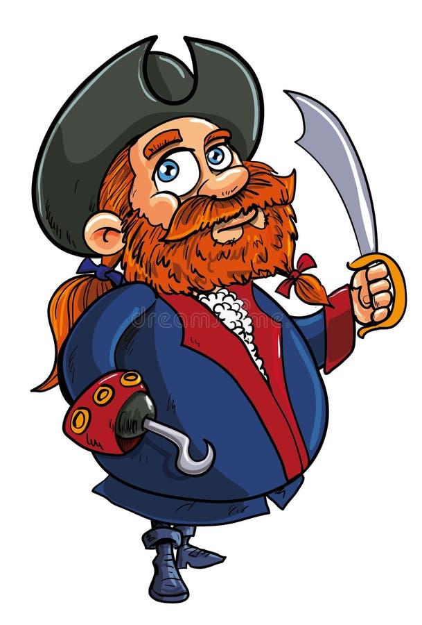 De Piraatkapitein Van Het Beeldverhaal Stock Foto
