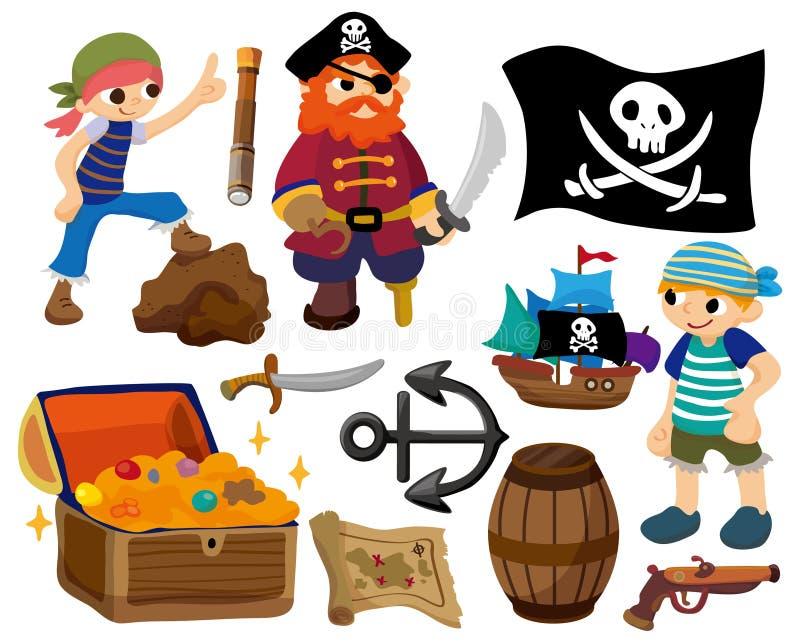De piraatpictogram van het beeldverhaal vector illustratie