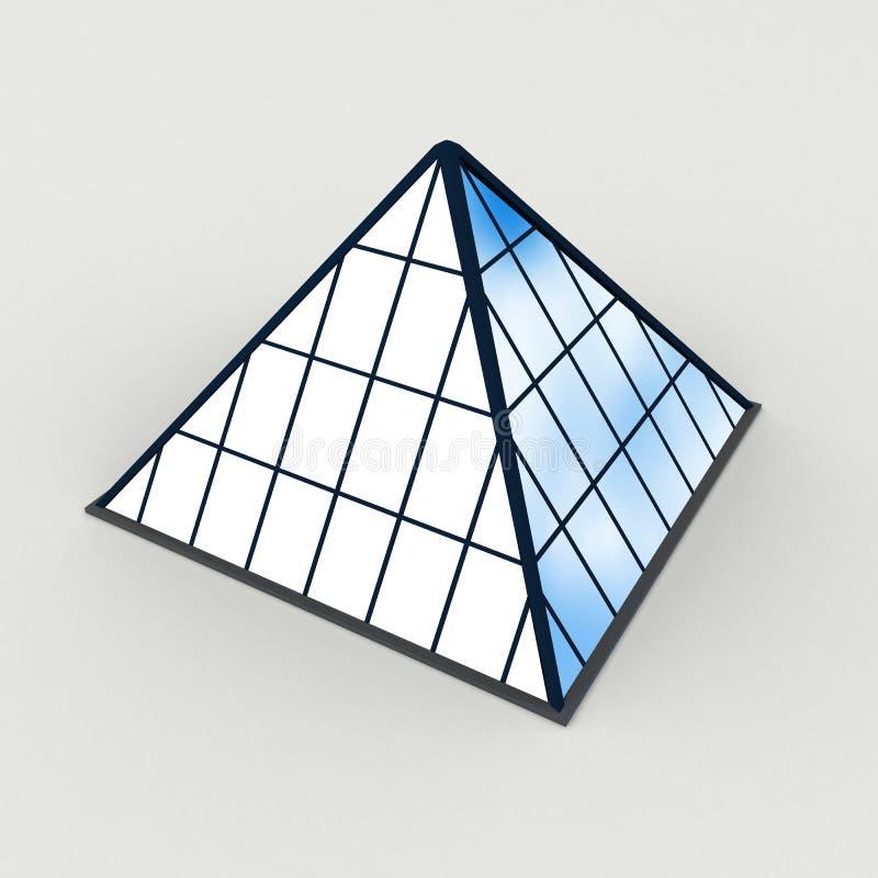 De piramide bouwt vector illustratie