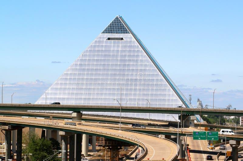 De Piramide, Memphis Tennessee Van de binnenstad stock afbeeldingen