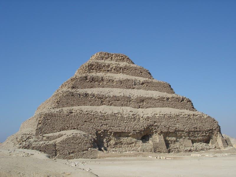 De Piramide Sakkarra van de stap stock afbeeldingen