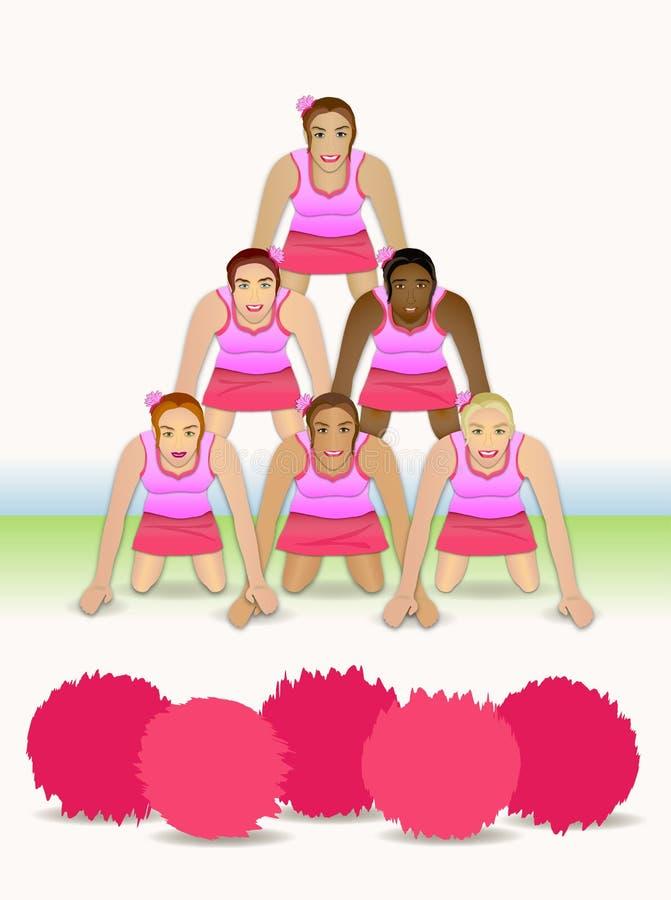 De Piramide van Cheerleader vector illustratie