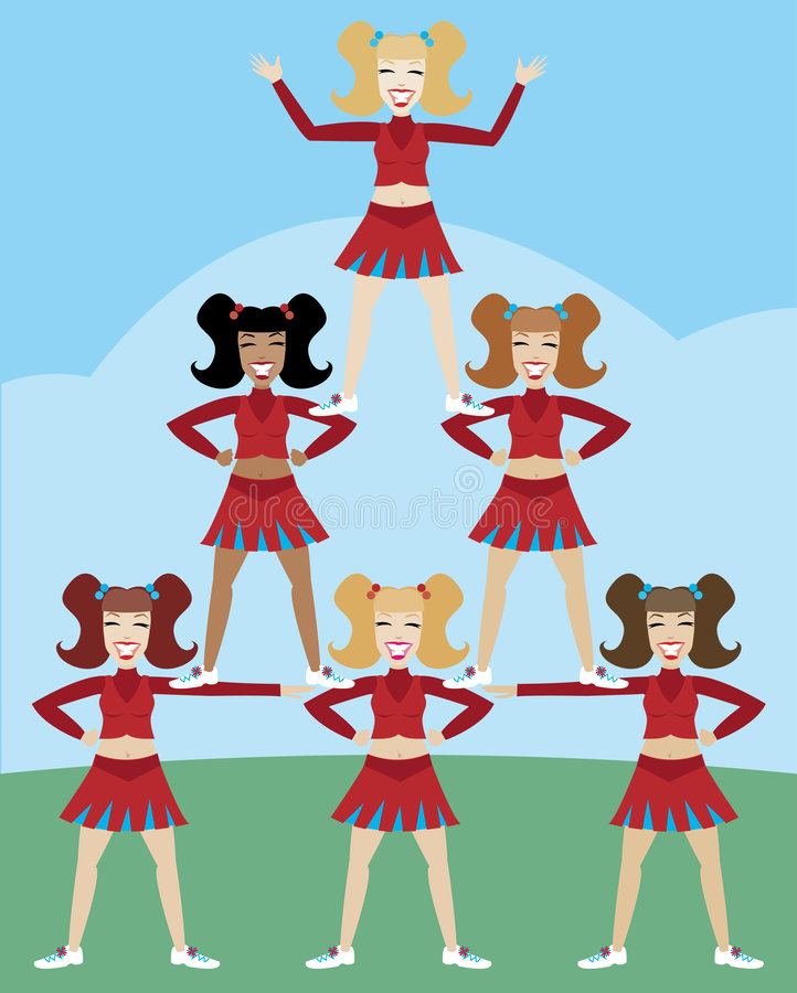 De Piramide van Cheerleader vector illustratie