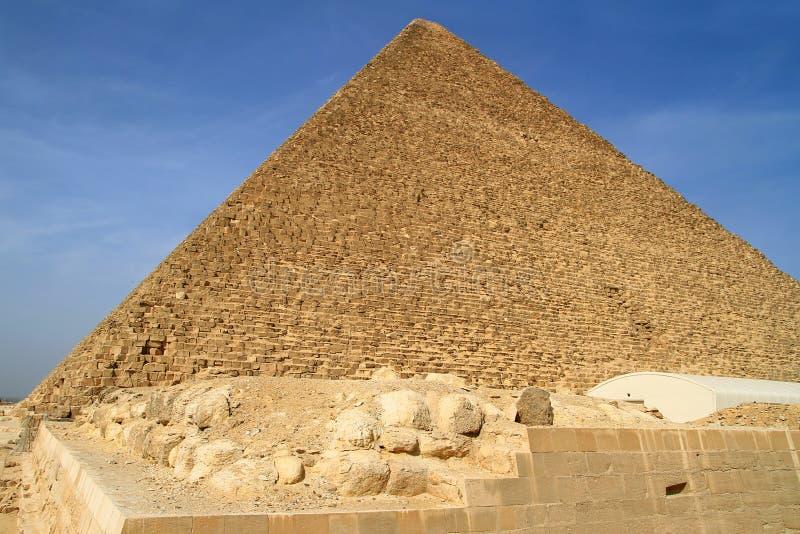 De Piramide van Cheops in Giza royalty-vrije stock fotografie