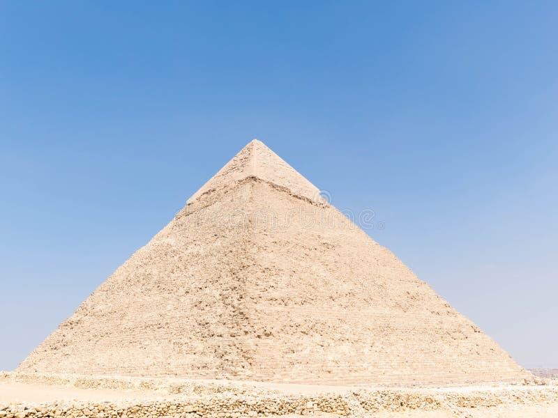 De Piramide van Chephren in Egypte royalty-vrije stock afbeeldingen