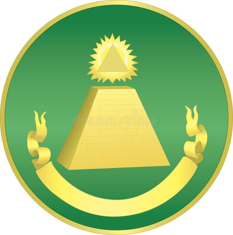 De Piramide van de dollar stock illustratie