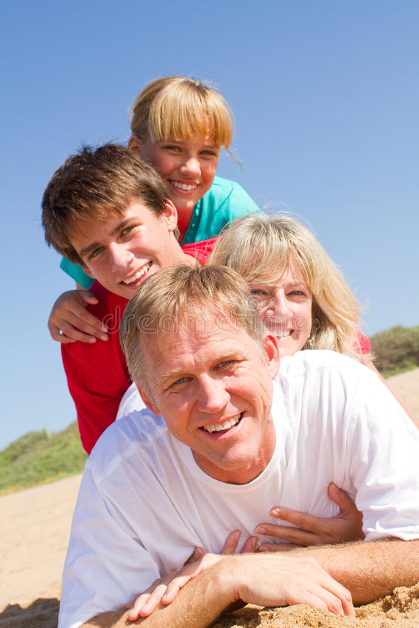 De piramide van de familie stock foto's
