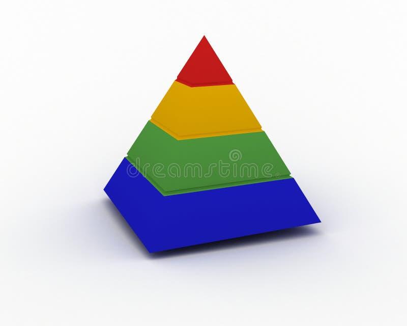 De piramide van de kleur vector illustratie