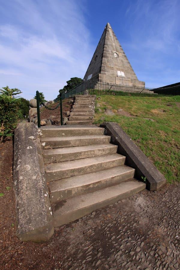 De Piramide van de ster of de Rots van Salem, Stirling stock afbeeldingen