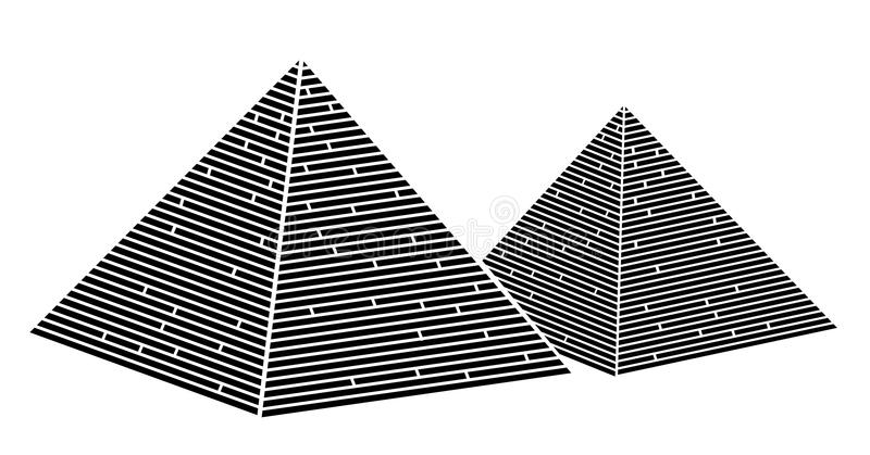De piramide van Egypte stock illustratie