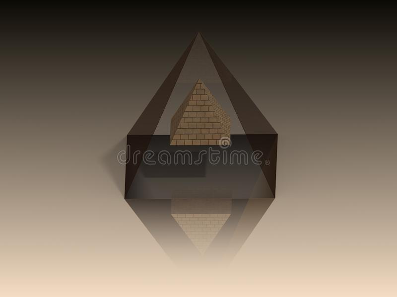 De piramide van het glas vector illustratie