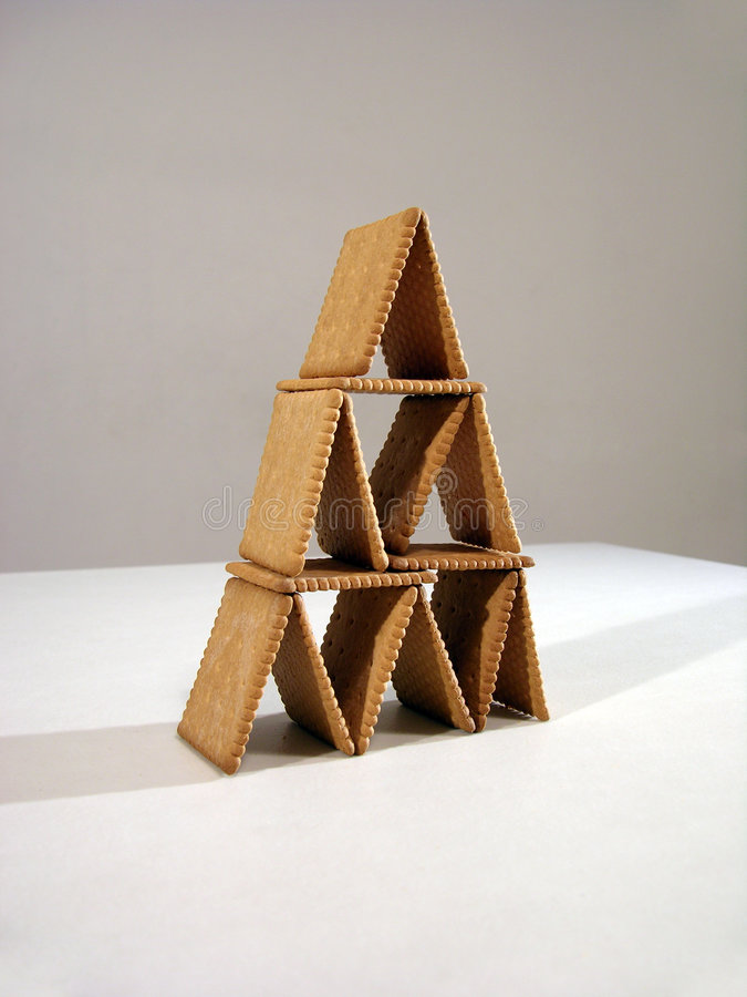 De piramide van het koekje stock foto's