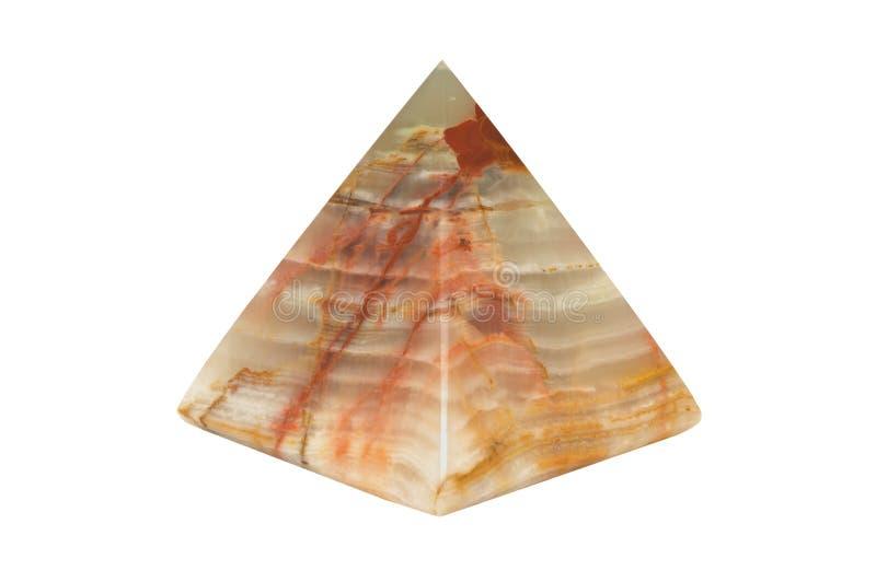 De piramide van het onyx, die op wit wordt geïsoleerdw royalty-vrije stock afbeelding