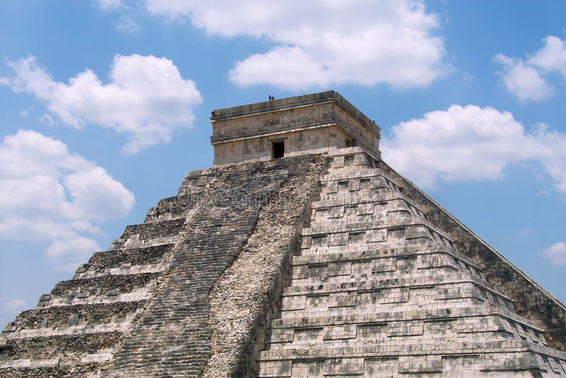 De piramide van Itza van Chichen royalty-vrije stock foto