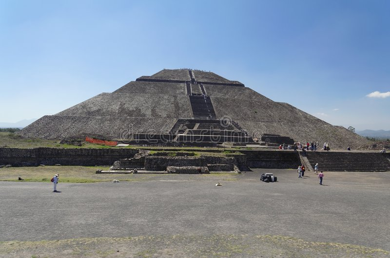 De Piramide van Teotihuacan van The Sun stock foto