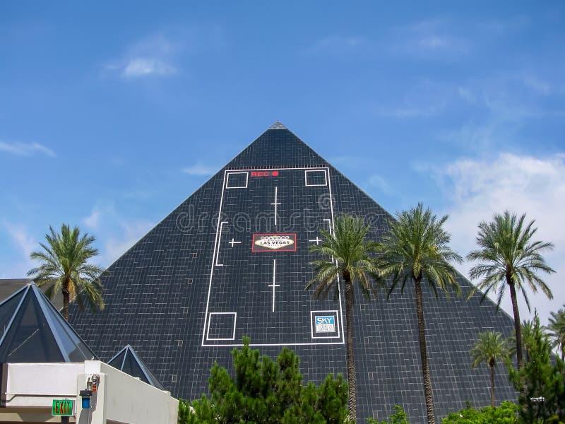 De Piramidehotel van Las Vegas Luxor stock foto's