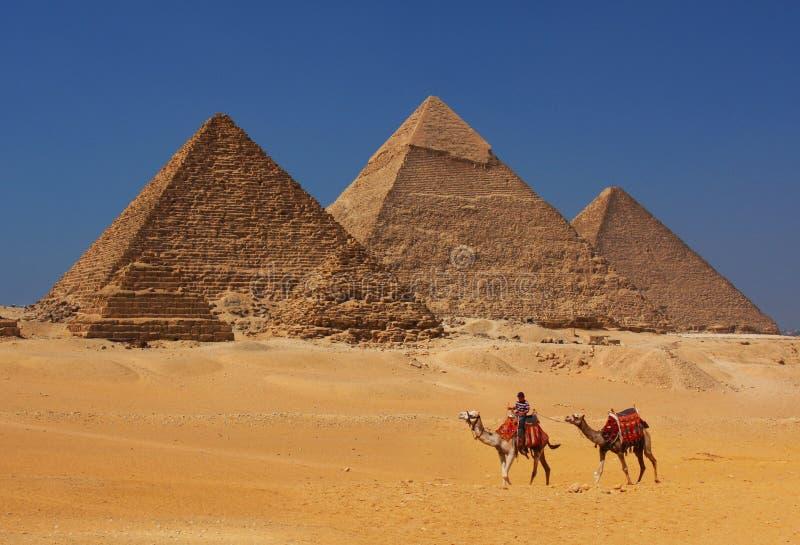 De piramides in Egypte royalty-vrije stock foto