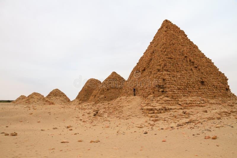 De piramides in Nuri stock afbeelding