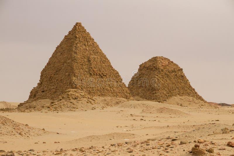 De piramides in Nuri stock fotografie