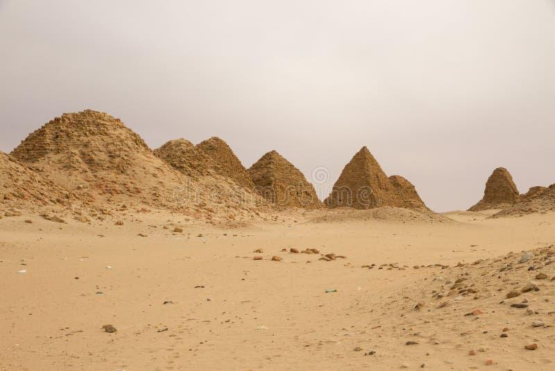 De piramides in Nuri royalty-vrije stock fotografie