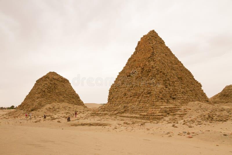 De piramides in Nuri royalty-vrije stock afbeeldingen