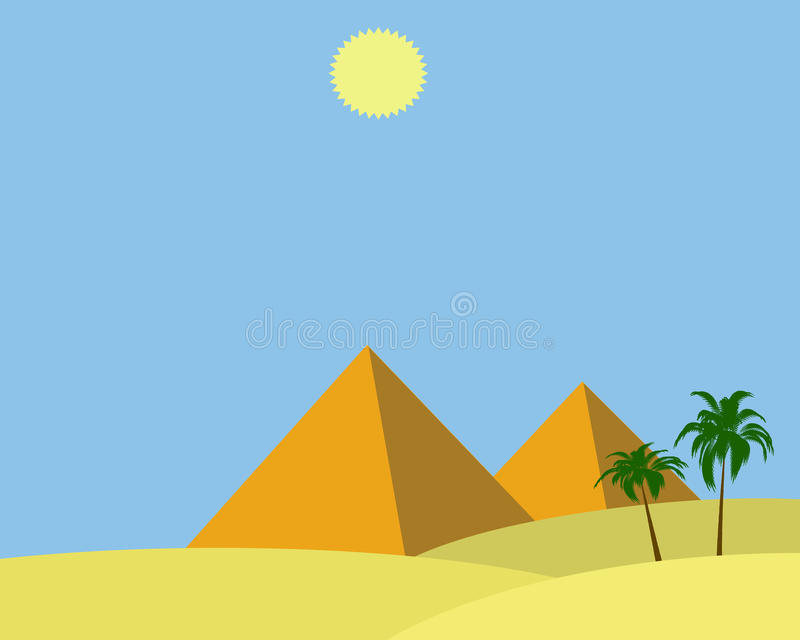 De piramides van Egypte vector illustratie