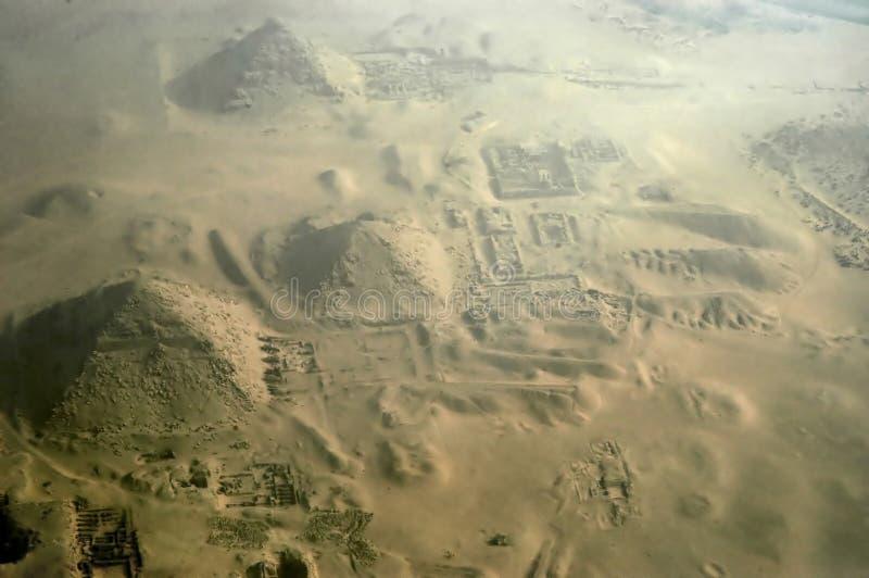 De piramides van Giza royalty-vrije stock foto
