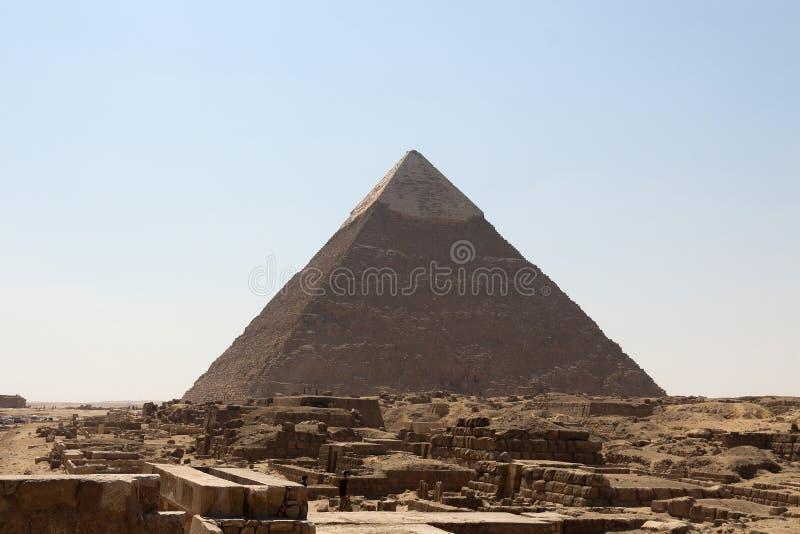 De piramides van gizagroep stock afbeelding