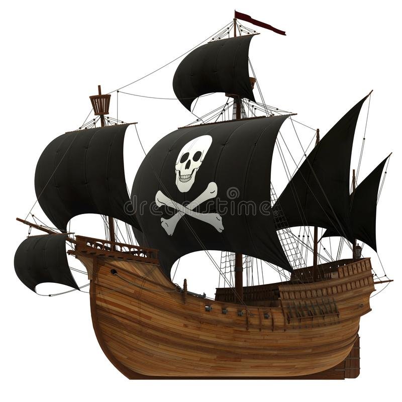 De piraten van de Caraïben 04 stock illustratie