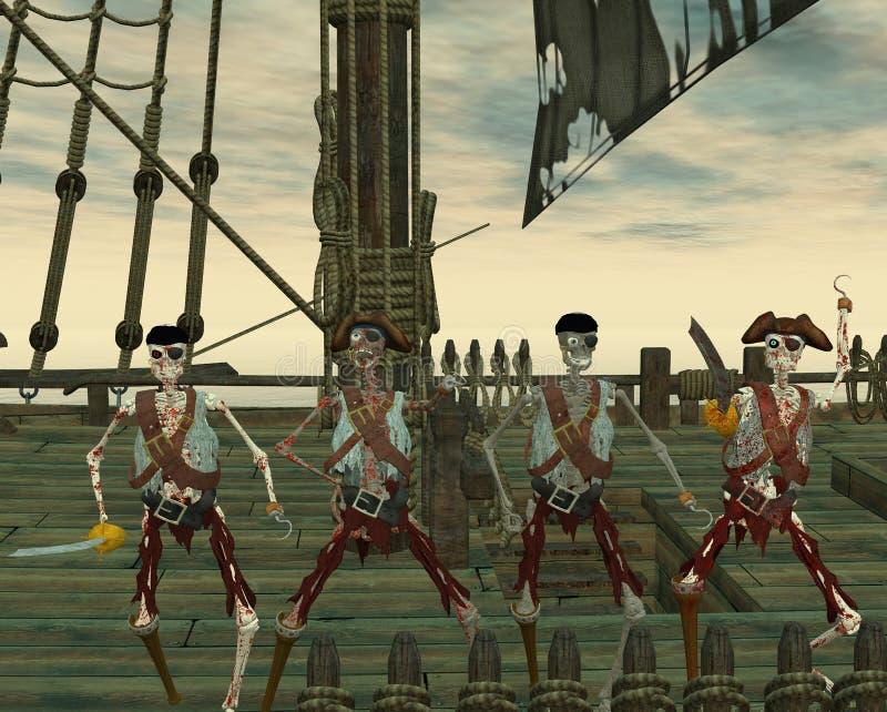 De piraten van Undead royalty-vrije illustratie