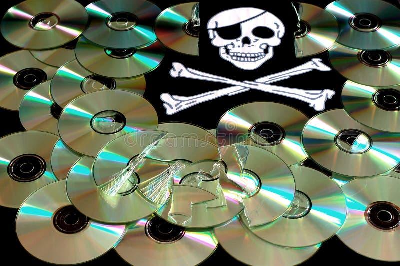 De piraterij van de software stock foto's