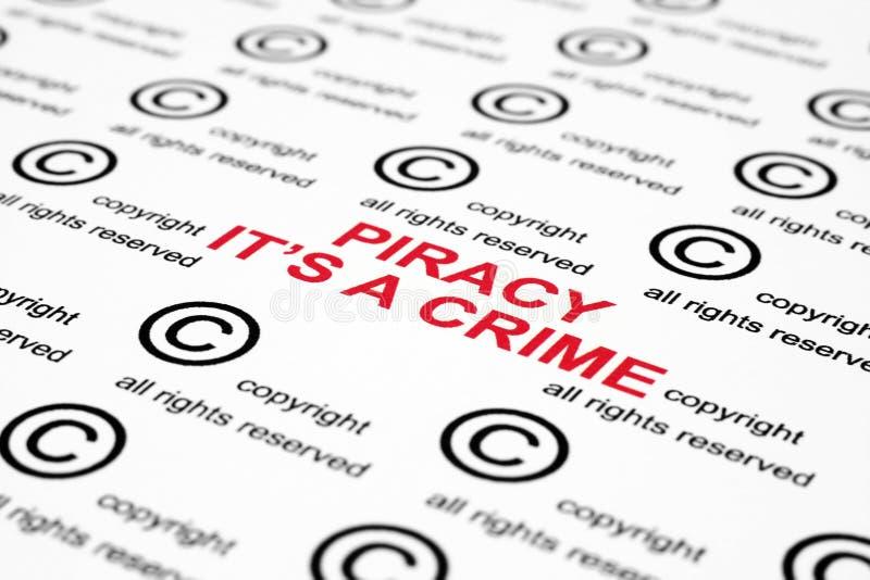 De piraterij van het auteursrecht royalty-vrije stock afbeelding