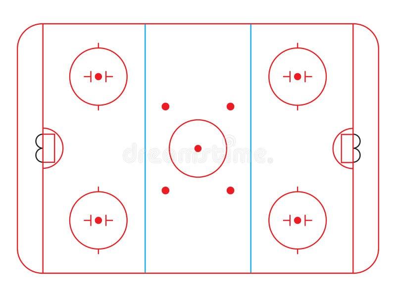 De piste van het hockey stock illustratie