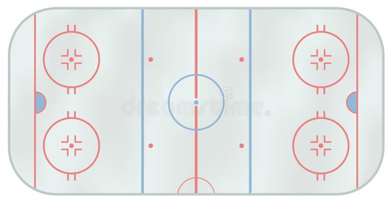 De piste van het ijshockey stock foto